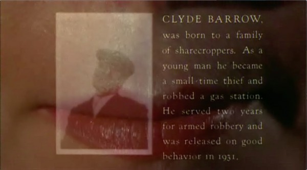 """""""Bonnie and Clyde"""" fondu enchaîné à la fin du générique (00:02:12)"""