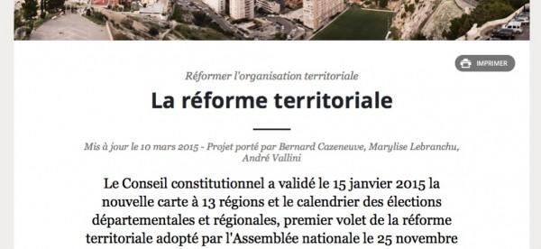 """Site """"Gouvernement.fr"""" (page liée au portail) 12 avril 2015"""